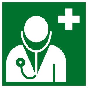 Escape sign - doctor - plastic - 5 x 5 cm