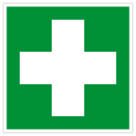 Escape sign - first aid