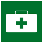 Escape sign - first aid box