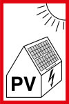 Fire protection sign - reference to photovoltaic system