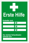 Notice in the workplace - first aid