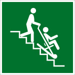 Escape route sign - rescue chair