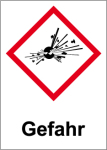 GHS marking - Danger, explosive substances