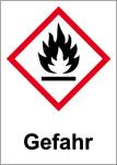 GHS marking - Danger, flammable substances