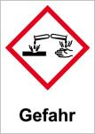 GHS marking - danger, corrosive
