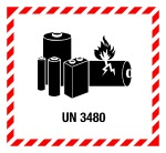 Danger Sign - Lithium Batteries UN 3480