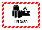 Danger sign - UN 3480, for small packages