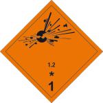 Danger sign - Explosive substances 1.2