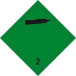 Danger sign - Non-flammable, non-toxic gases