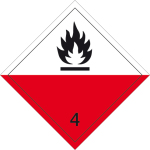Danger sign - Self-igniting substances
