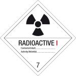 Danger sign - radioactive substances