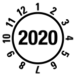 Annual test sticker 2020 | JP420 | favorite color