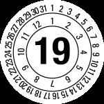 Annual test sticker 2019 | JP25 | favorite color