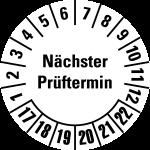 Multi Year Test Plaque 2017 - 2022 | Next examination date