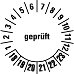 Multi-year test sticker 2018 - 2023 | Checked