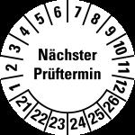 Multi-year test sticker 2021 - 2026 | Next examination date
