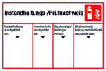 Maintenance / inspection certificate four columns