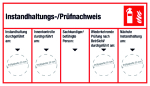 Maintenance / test certificate five columns
