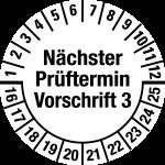 Multi-year test sticker 2016 - 2025   Next exam date   favorite color