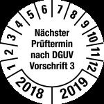 Multi-year test sticker 2018 - 2019   Next exam date   favorite color