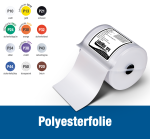 Polyester film - different colors and sizes - LabelMax