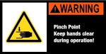 Machine sign with warning sign