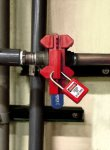 Ball valve lock 13 - 51 mm