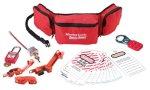 Locking set belt bag electrical applications