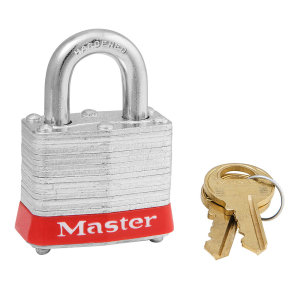 Padlock series 3 - shackle height 19 mm - keyed different - red