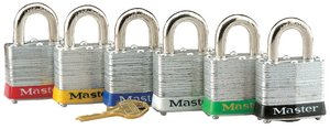 Set of 6 padlocks of the series 3 | Temple height 19 mm