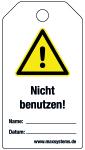 Locking label - Do not use! - Plastic 0.5 mm - 80 x 147 mm