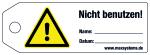 Blocking label - Do not use! - Plastics 0.5 mm - 160 x 55 mm