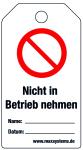 Locking label - Do not start up - plastic 0.5 mm - 80 x 147 mm