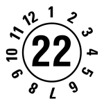 Annual test sticker 2022 | JP322 | favorite color