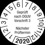 Jahresprüfplakette 2020 | Gepr� ... rüftermin | DP620 | Wunschfarbe
