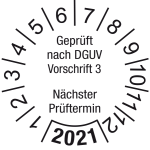 Jahresprüfplakette 2021 | Gepr� ... rüftermin | DP621 | Wunschfarbe
