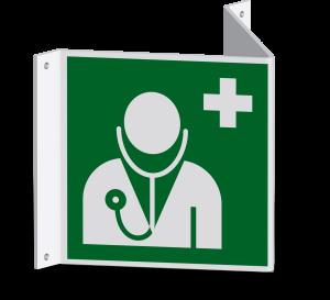 Rettungszeichen - Arzt (E009)- Nasenschild - 20 cm