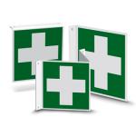 Nasen- oder Fahnenschild | Rettungszeichen - Erste Hilfe (E003)