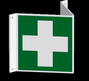 Rettungszeichen - Erste Hilfe (E003) - Nasenschild - 10 cm
