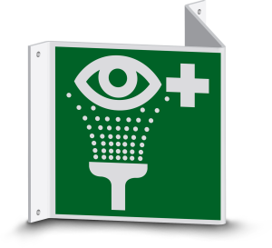 Rettungszeichen - Notdusche (E012) - Nasenschild - 10 cm - langnachleuchtend