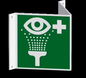 Rettungszeichen - Notdusche (E012) - Nasenschild - 20 cm - langnachleuchtend