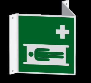Rettungszeichen - Krankentrage (E013) - Nasenschild - 30 cm