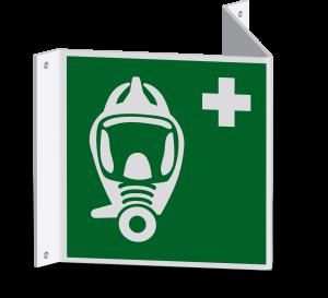 Rettungszeichen - Fluchtretter (E029) - Nasenschild - 20 cm - langnachleuchtend