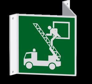 Rettungszeichen - Rettungsausstieg (E017) - Nasenschild - 30 cm