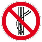 Verbotszeichen - Schleppspur verlassen verboten - P037