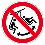 Verbotszeichen - Schaukeln im Sessel verboten - P038