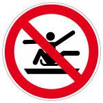 Verbotszeichen - Aus dem Schlitten lehnen verboten - P046