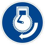 Mandatory sign - start motor during suspension - M038