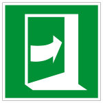 Escape sign - door opens by pressing right side - E023