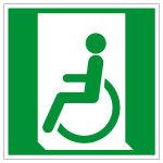 Rettungszeichen - Rettungsweg für Rollstuhlfahrer links - E026